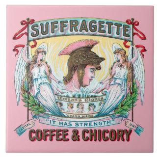 Suffragetteのコーヒー及びチコリーTrivet タイル