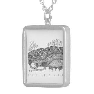 Sugarbushヴァーモントの銀製のネックレス シルバープレートネックレス