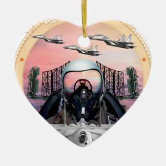 SUKHOIのジェット戦闘機 セラミックオーナメント