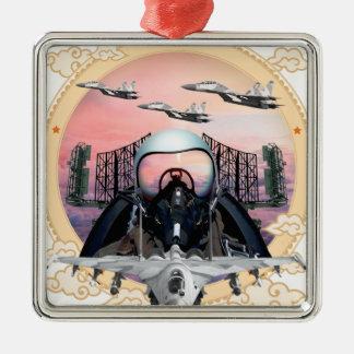 SUKHOIのジェット戦闘機 メタルオーナメント