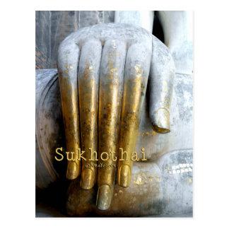 Sukhothaiの歴史的公園。 Wat Siの仲間。 旅行 ポストカード