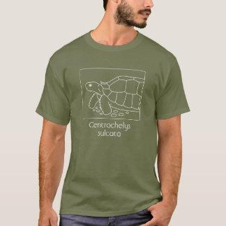 Sulcataのカメのワイシャツ(箱、白い) Tシャツ