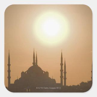 Suleymaniyeトルコ、イスタンブールのシルエット スクエアシール