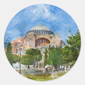 Sultanahmet、イスタンブールのHagia Sophia ラウンドシール