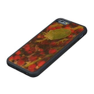 Sumacの緑の悪臭の虫 CarvedチェリーiPhone 6バンパーケース