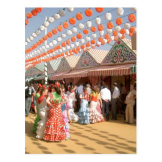 Sumario Description Feria de Abril (セビリア)、muje ポストカード