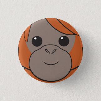 Sumatranのオランウータンの顔ボタン 缶バッジ