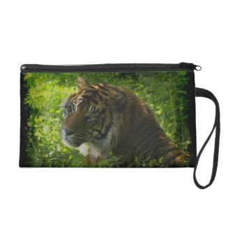 Sumatranのトラの野生動物の大きい猫好きの財布 リストレット