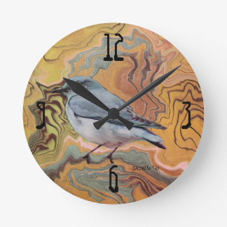 Sumiのブルーバード ラウンド壁時計