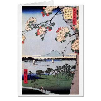 Sumidaの川のSuijin神社そしてMassaki カード