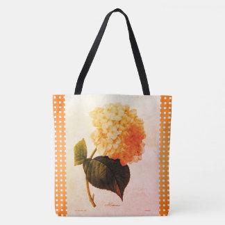 Summer_Botanical-Art_Checks_Floral-Totes-Bags トートバッグ