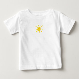 Summersgardenの日光のオレンジおよび黄色のミニ ベビーTシャツ