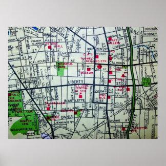 SumterのSCのヴィンテージの地図ポスター ポスター