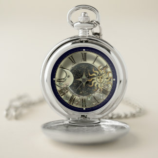 Sun Moon And Stars Celestial Pocket Watch ポケットウォッチ