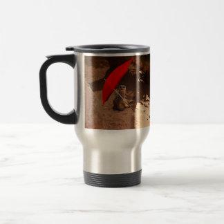 Sun_Smartの_Funny_Meerkat、_Travel_Coffee_Mug トラベルマグ