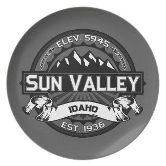 Sun Valleyのロゴの灰色 プレート