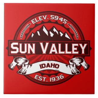 Sun Valleyのロゴの赤 タイル