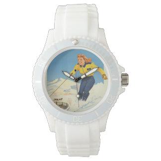 Sun Valley米国のヴィンテージ旅行腕時計 腕時計