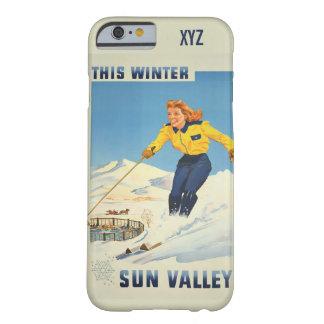 Sun Valley、アイダホのヴィンテージ旅行ケース Barely There iPhone 6 ケース