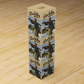 Sun Valley、アイダホのヴィンテージ旅行ワイン用化粧箱 ワインギフトボックス