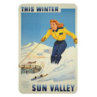 Sun Valley、アイダホのヴィンテージ旅行磁石 マグネット