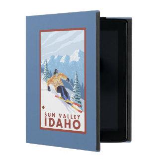 Sun Valley、アイダホ- Downhhillの雪のスキーヤー iPad ケース