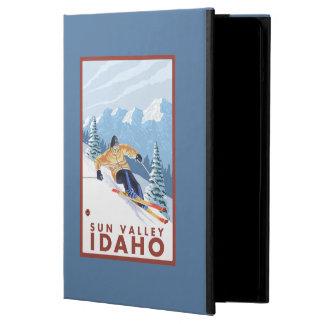 Sun Valley、アイダホ- Downhhillの雪のスキーヤー iPad Airケース