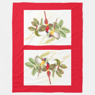 Sunbirdsの鳥の野性生物のフリースブランケット フリースブランケット