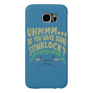 Sunblockがほしいと思うかわいく悲しい地球 Samsung Galaxy S6 ケース