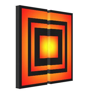 Sunfireの情熱の拡大の正方形のファインアート キャンバスプリント