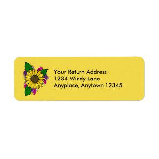 Sunflower Bouquet Address Label ラベル