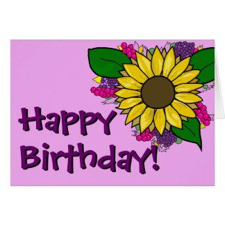 Sunflower Bouquet - Birthday Card カード