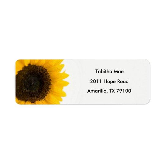Sunflower Floral Address Label ラベル