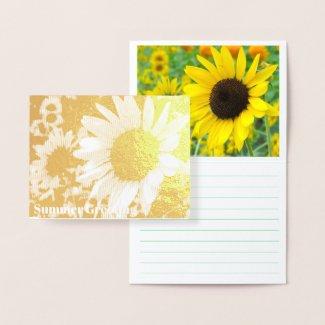 Sunflower:Foil card 箔カード
