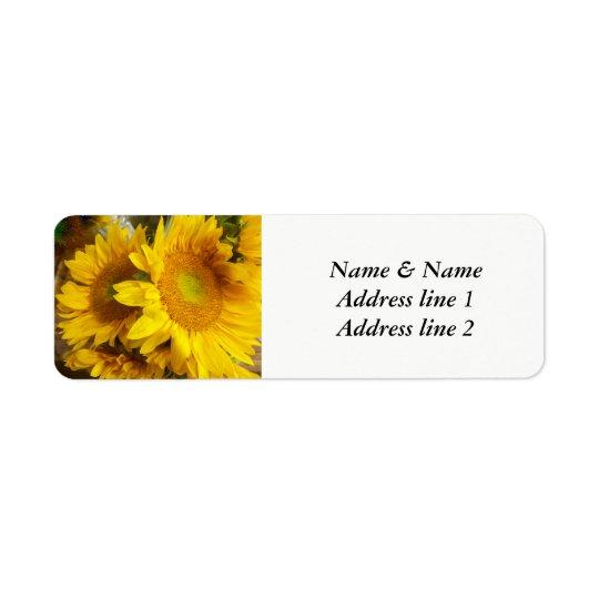 Sunflower wedding address labels ラベル