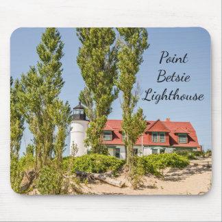 Sunlight on Point Betsie Lighthouse マウスパッド