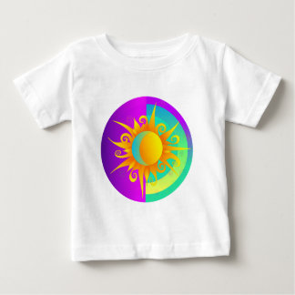Sunmoonの燃える紫色 ベビーTシャツ