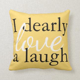 Sunny Yellow Decor Pillow   Jane Austen Book Quote クッション