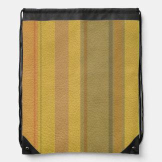 SunnySide色の革プリントで縞で飾りましたり及び並びます ナップサック