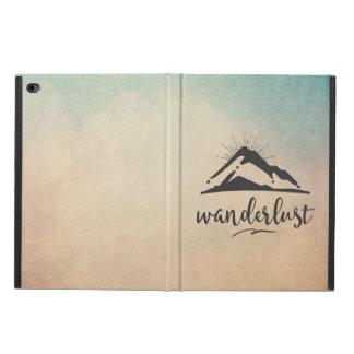 Sunrays - Wanderlustのタイポグラフィが付いている山 Powis iPad Air 2 ケース