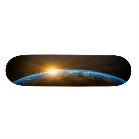 sunrise space galaxy skateboard deck スケートボード