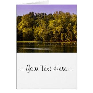 sunset湖の写真 グリーティングカード