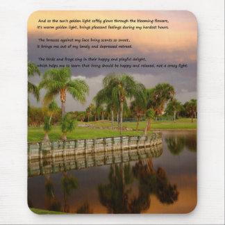 sunset湖の悲しく幸せで感動的な詩のマウスパッド マウスパッド