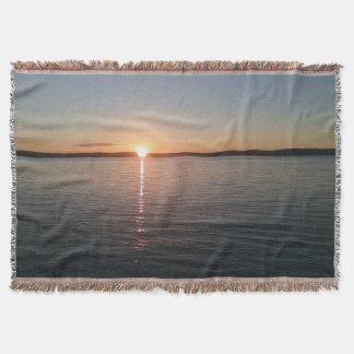 sunset湖毛布の美しく美しい投球 スローブランケット