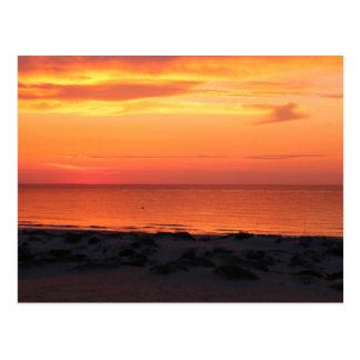 Sunset at the beach - Postkarte ポストカード