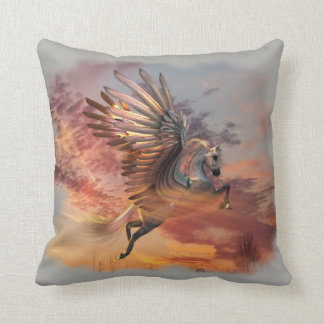 "Sunset Pegasus Throw Pillow 16"" x 16"" pick color クッション"