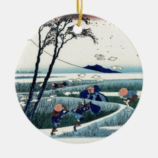 Sunsyuejiri, Hokusai | 駿州江尻 北斎 富嶽三十六景 セラミックオーナメント