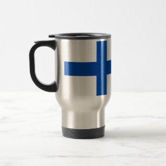 Suomenのlippuのkahvikuppi -フィンランドの旗 トラベルマグ