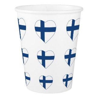 SUOMIフィンランドのハートの形の旗 紙コップ