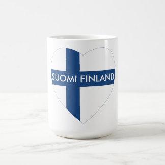 SUOMIフィンランドのハート コーヒーマグカップ